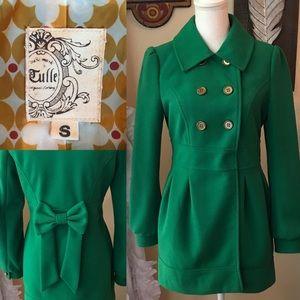 Tulle green pea coat